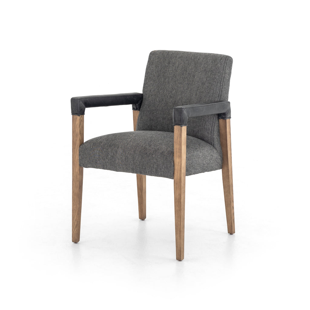 Reuben Dining Chair-Ives Black-Durango Smoke
