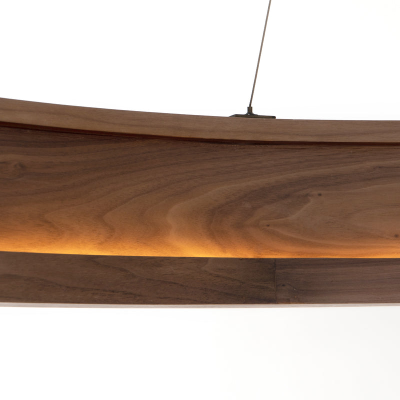Baum Chandelier Dark Walnut