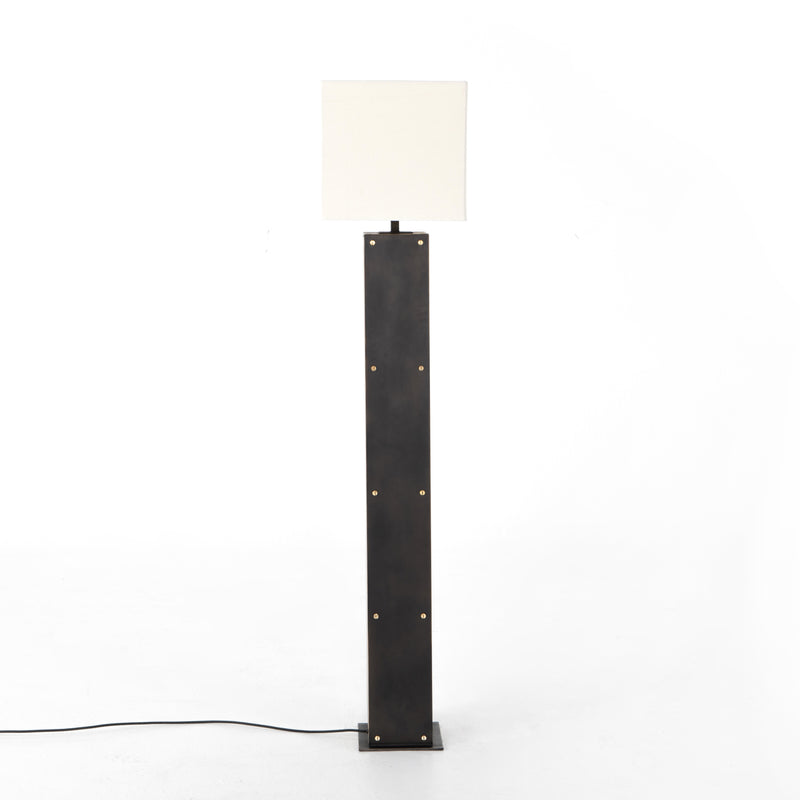 Trenton Floor Lamp-Natural Oak