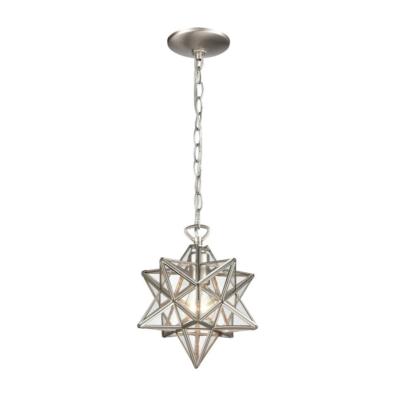 Moravian Star Clear Glass Pendant Light