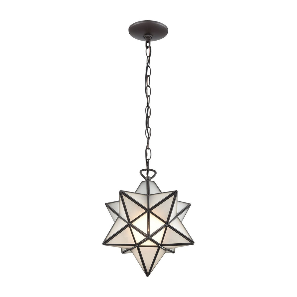 Moravian Star Frosted Glass Pendant Light