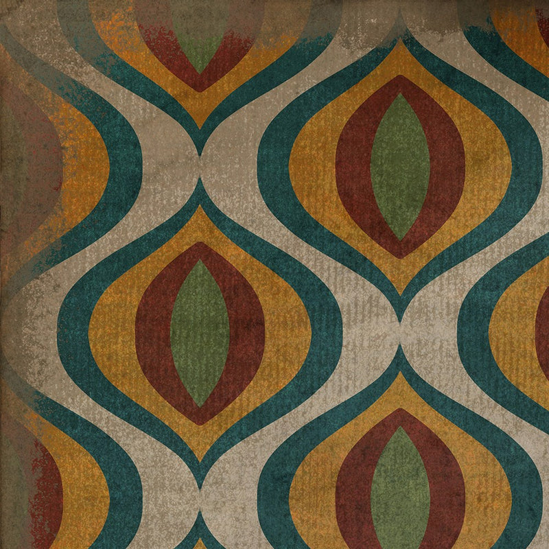 "Pattern 15 ""Svengali"" Vinyl Floorcloth"