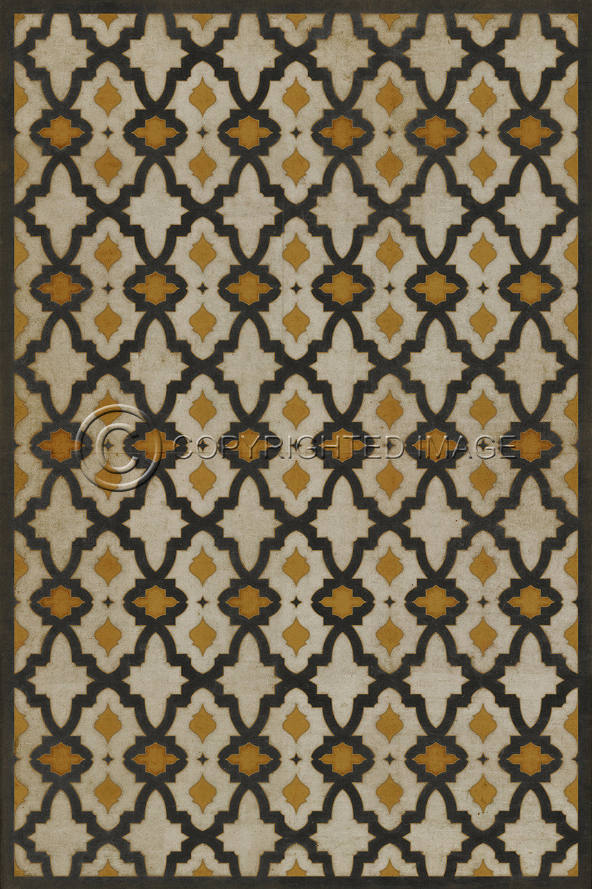 "Pattern 31 ""Rajha"" Vinyl Floorcloth"