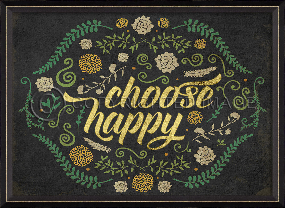 Happy Thoughts Wall Art: Choose Happy