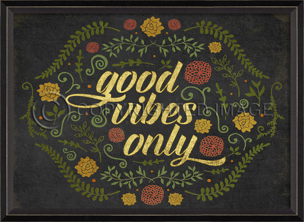 Happy Thoughts Wall Art: Good Vibes Only