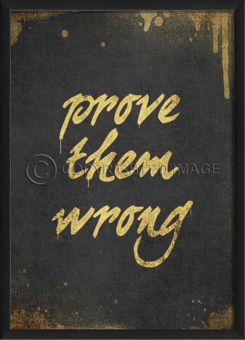 Happy Thoughts Wall Art: Prove Them Wrong