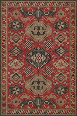 Lehigh Valley Furniture Flooring Vinyl Floorcloth Persian Style Oriental Rug Pet Safe Kid Friendly Rug Outdoor