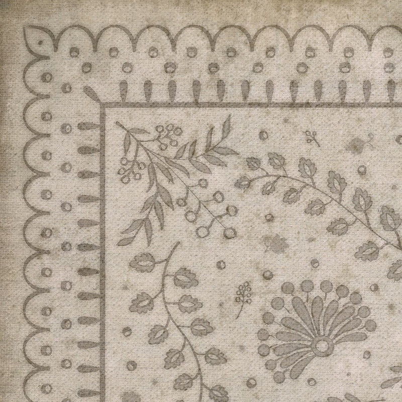"Williamsburg Cozens ""The Little Turtle Dove"" Vinyl Floorcloth"