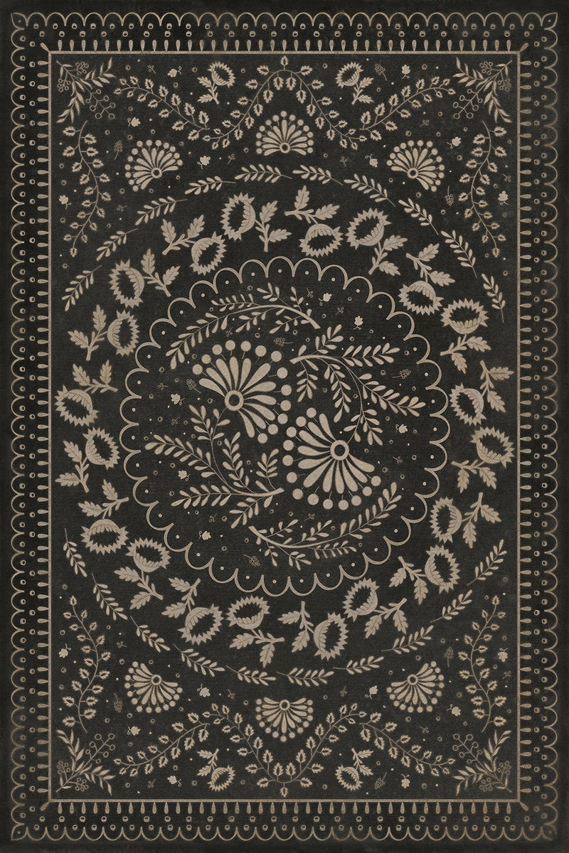 "Williamsburg Cozens ""The Rolling of the Stones"" Vinyl Floorcloth"