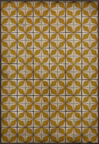 "Pattern 54 ""Solar Panels"" Vinyl Floorcloth"