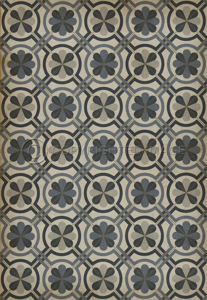 "Pattern 19 ""Madame Curie"" Vinyl Floorcloth"