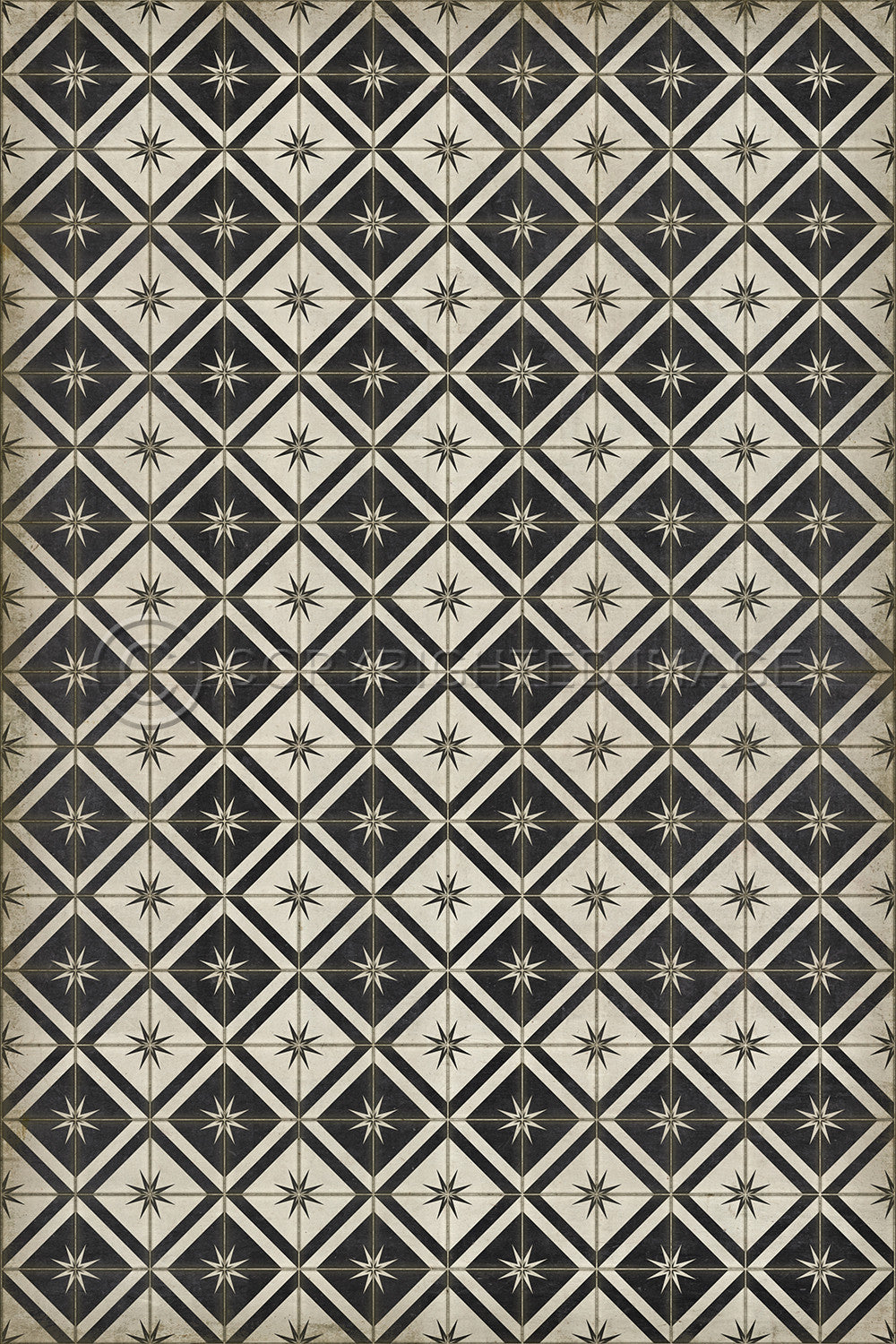 Lehigh Valley Furniture Flooring Vinyl Floorcloth Moravian Star Bethlehem Star Pet Safe Kid Friendly Rug Vintage Tile
