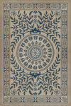 "Pattern 40 ""Isola Bella Squares"" Vinyl Floorcloth"