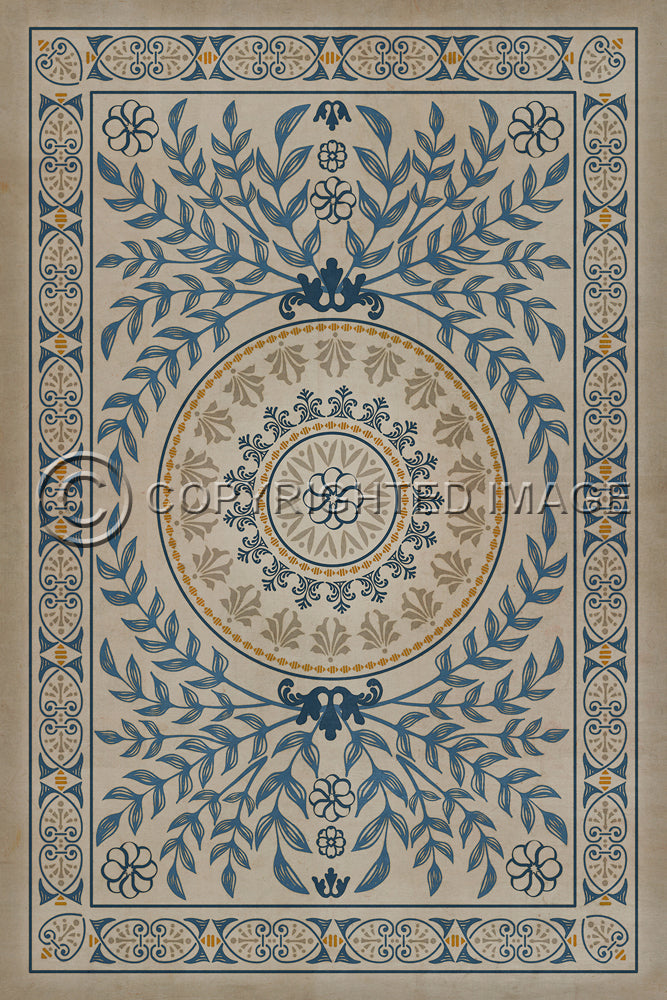 "Pattern 40 ""Villa dEste"" Vinyl Floorcloth"
