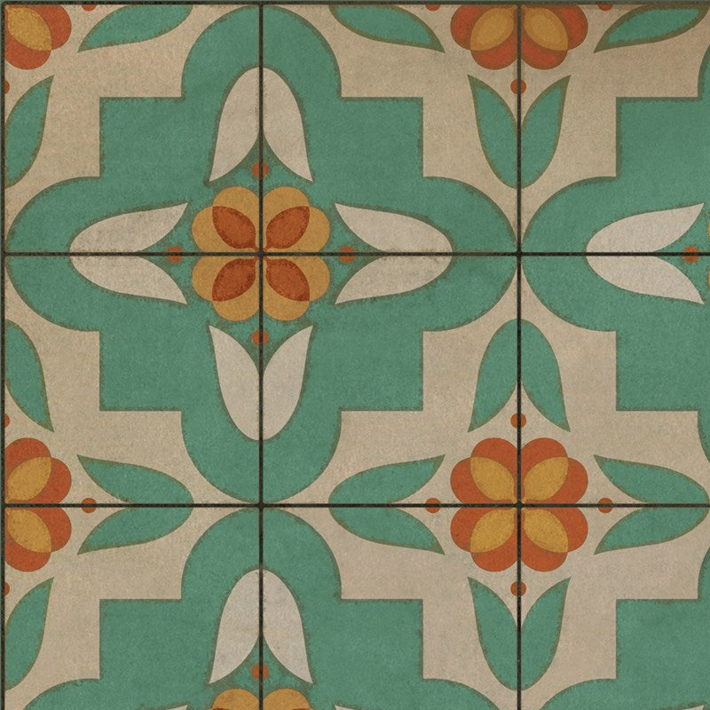 "Pattern 33 ""Dutch"" Vinyl Floorcloth"