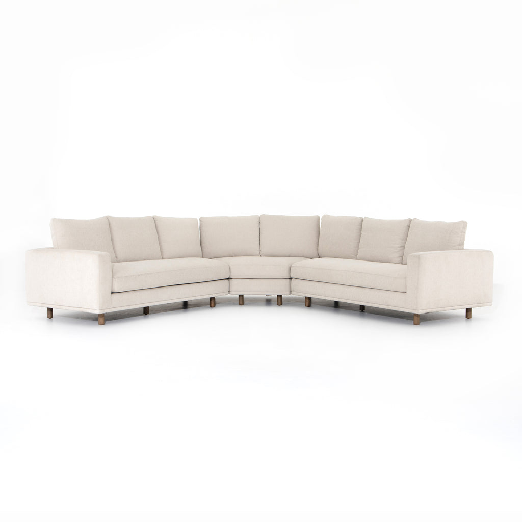 Dom 3-Piece Sectional Bonnell Ivory