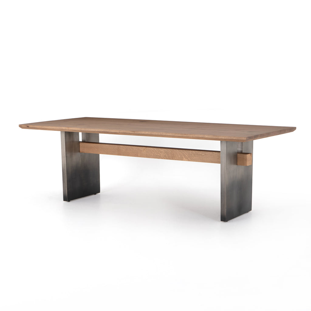 Brennan Dining Table, Dove Oak