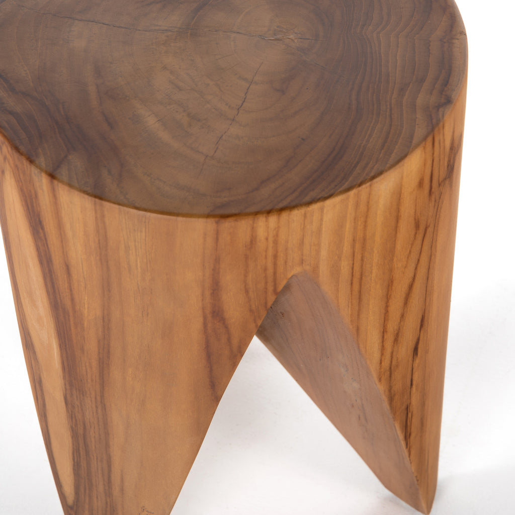 Petros Outdoor End Table - Natural Teak