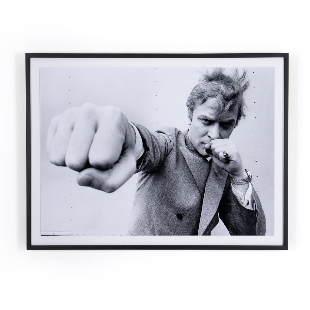 Michael Caine Punch Framed Wall Art by Getty Images