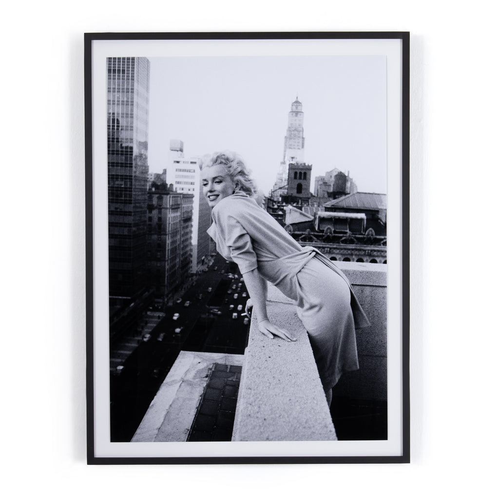 Marilyn Monroe on a Roof Framed Wall Art by Getty Images