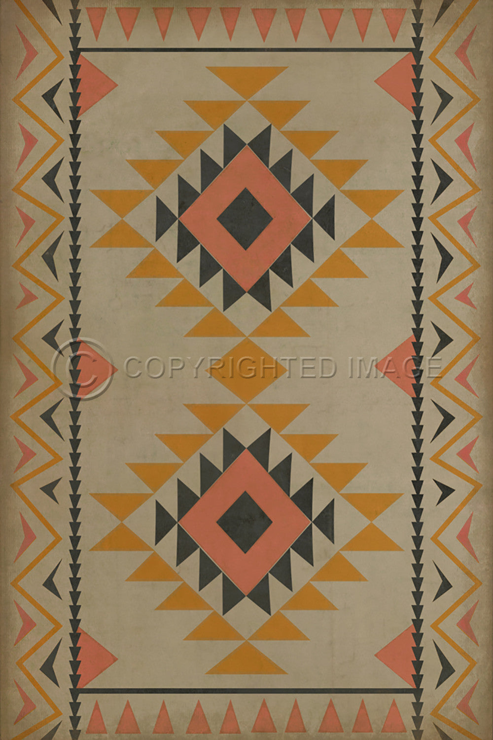 "Pattern 62 ""Walkabout"" Vinyl Floorcloth"
