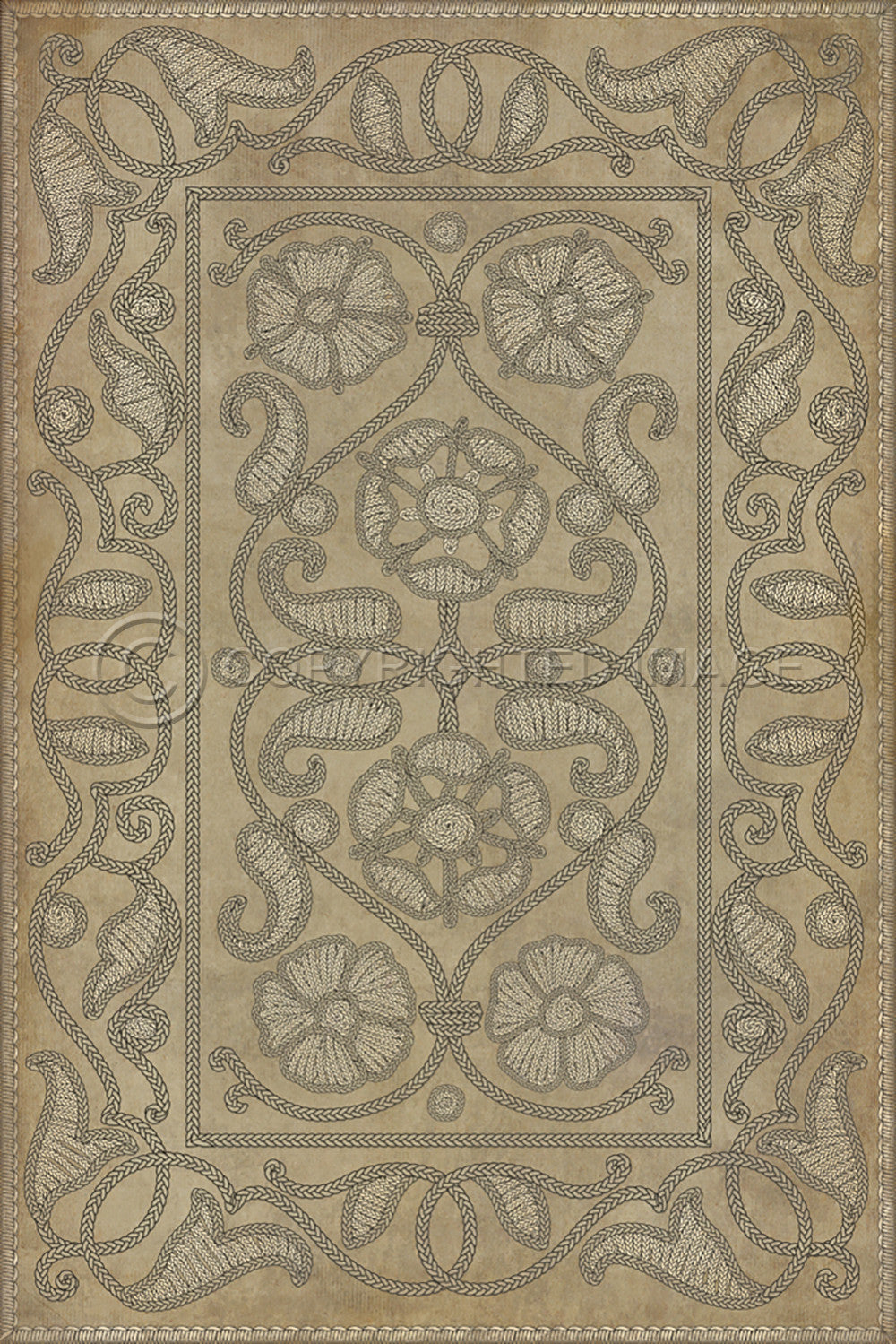 "Pattern 64 ""Book of Secrets"" Vinyl Floorcloth"