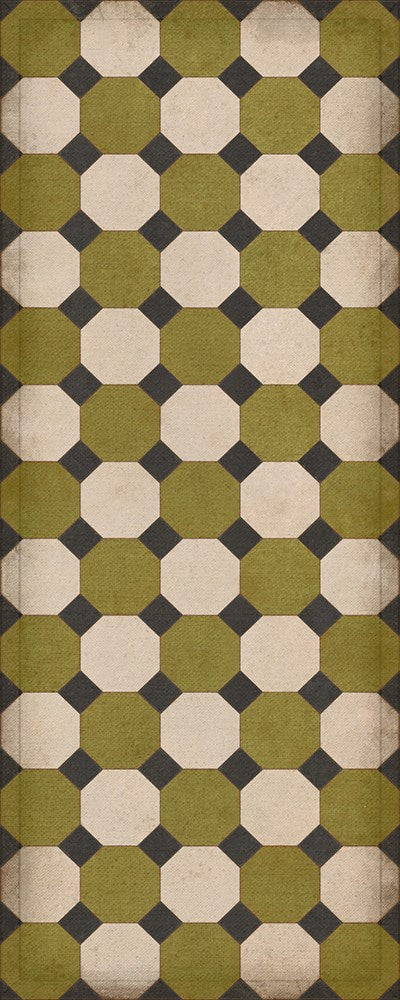 "Williamsburg Octagons ""Sherman"" Vinyl Floorcloth"