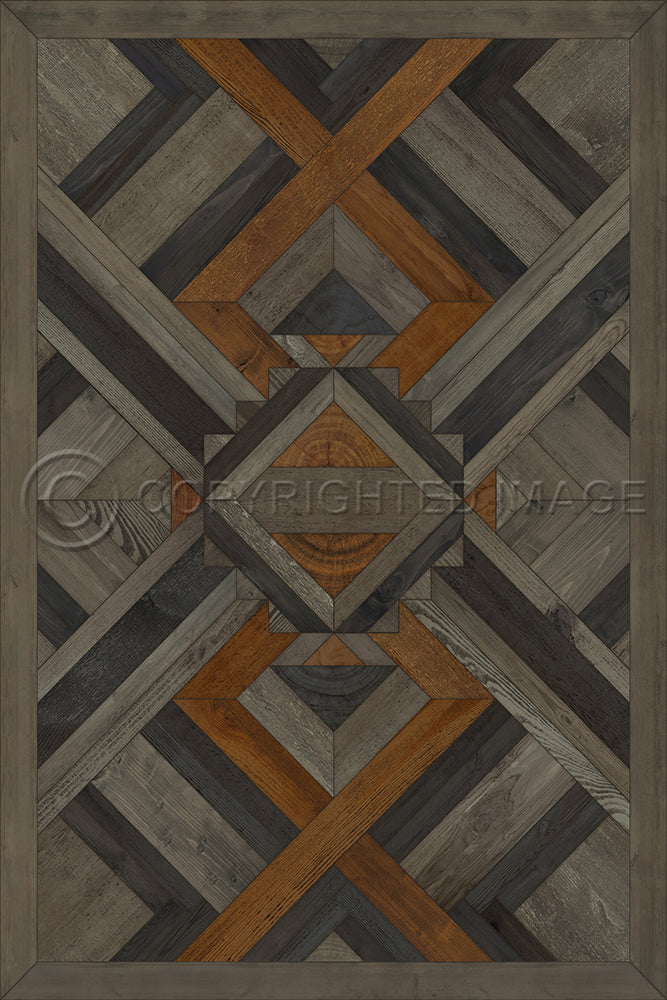 "Norwegian Wood Appalachian ""In Great Grandeur"" Vinyl Floorcloth"
