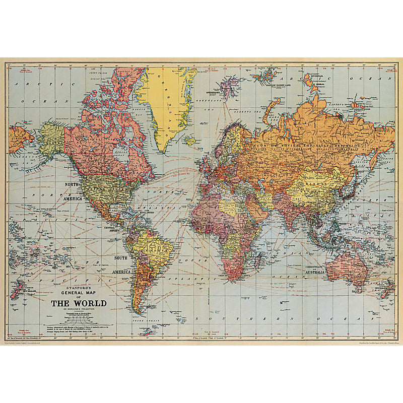 Cavallini Vintage Poster Wrapping Paper Cheap Wall Art Wall Decor Dorm Room Vintage World Map Cartographer Cartography