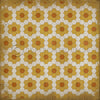 "Pattern 02 ""Pushing Up Daisies"" Vinyl Floorcloth"