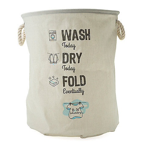 Wash, Dry, Fold Canvas Laundry Bag