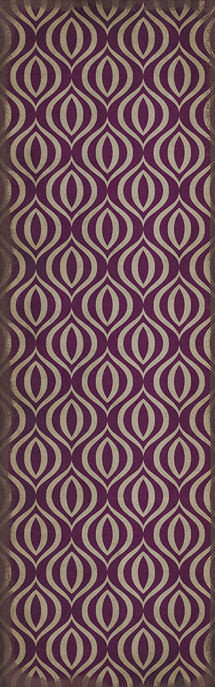"Pattern 15 ""Purple Haze"" Vinyl Floorcloth"