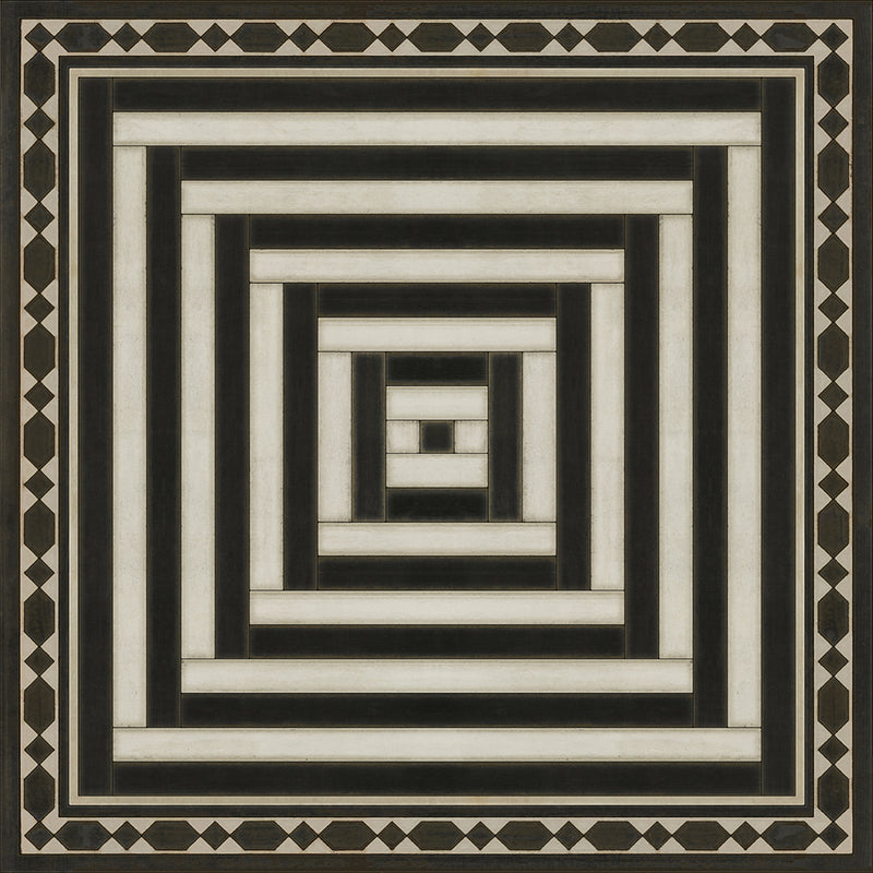 "Pattern 18 ""Mandate Of Heaven"" Vinyl Floorcloth"