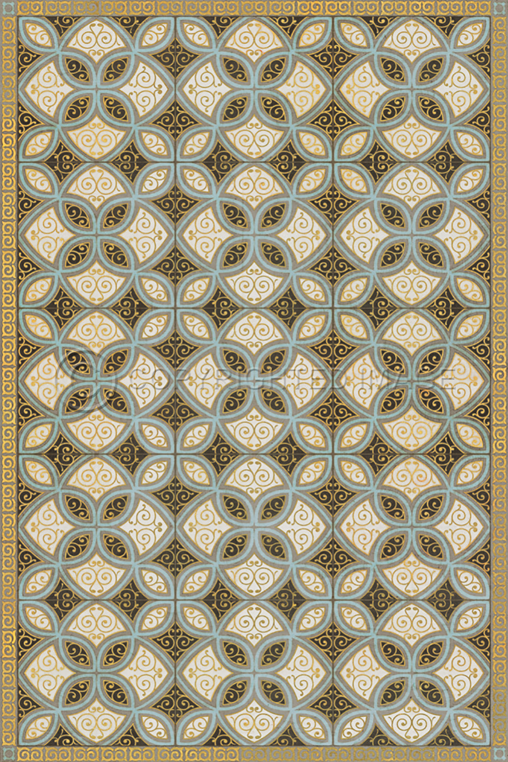 "Pattern 25 ""Gustav"" Vinyl Floorcloth"