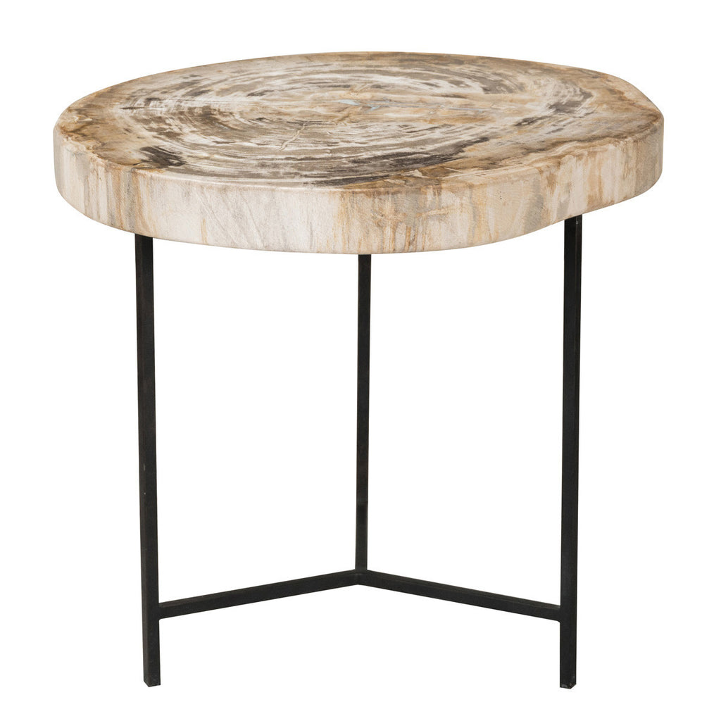 Riley Petrified Wood Accent Table Medium