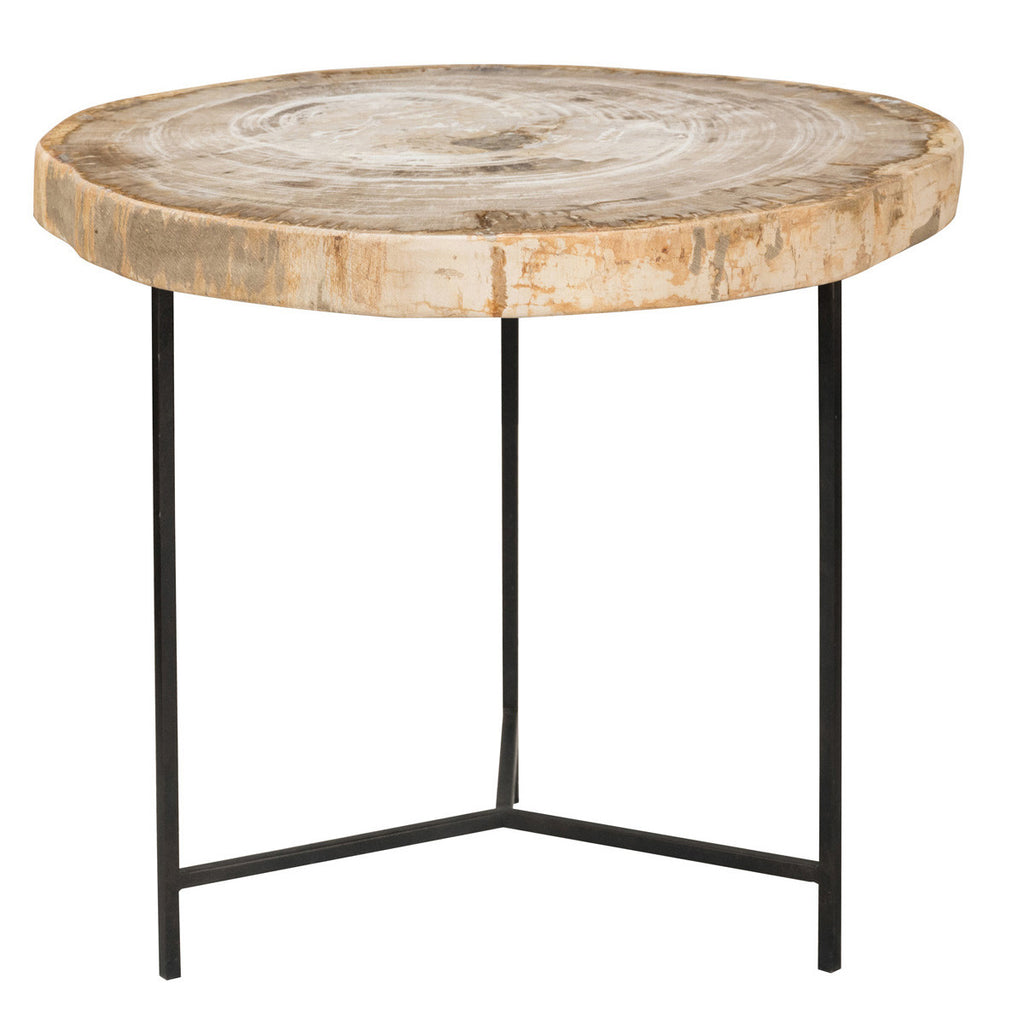 Riley Petrified Wood Accent Table Large