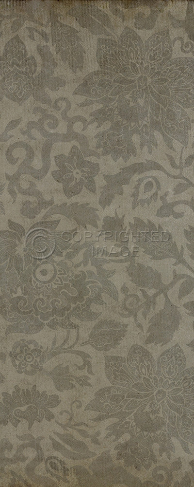 "Pattern 71 ""East China Sea"" Vinyl Floorcloth"