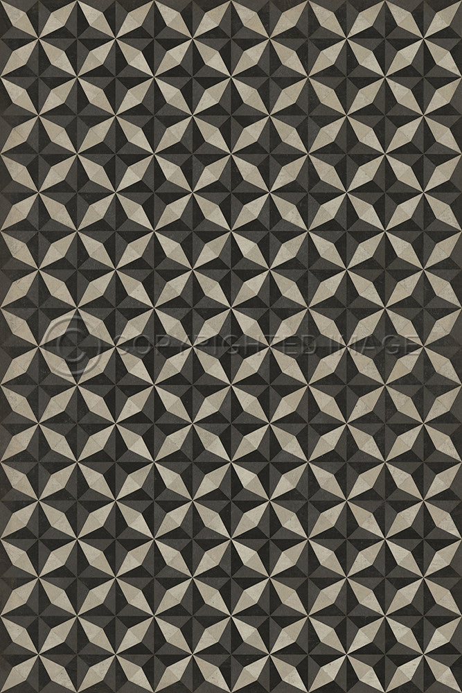 "Pattern 74 ""Morpheus"" Vinyl Floorcloth"