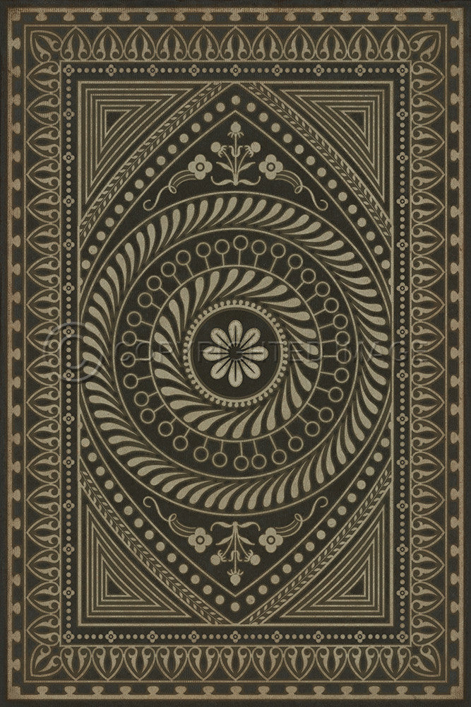 "Pattern 75 ""The All Seeing Eye"" Vinyl Floorcloth"