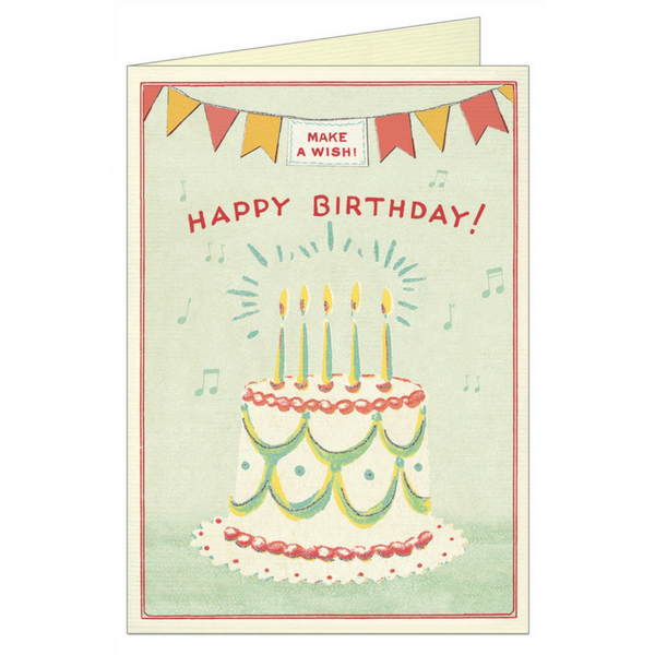 "Cavallini ""Happy Birthday Cake"" Greeting Card"