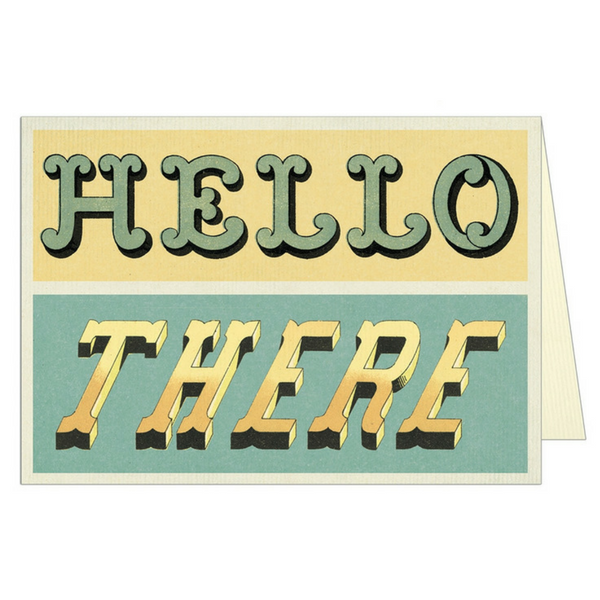 "Cavallini ""Hello There"" Greeting Card"