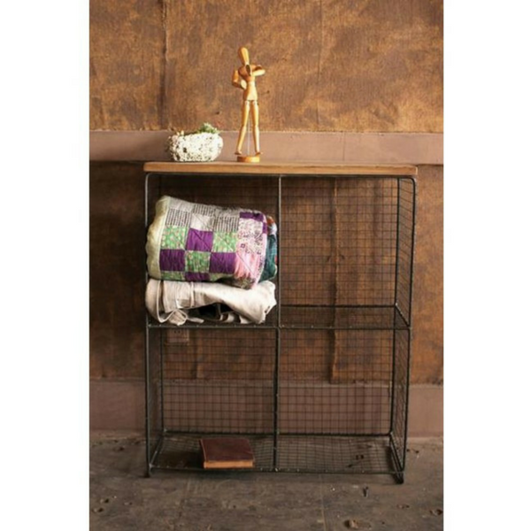 Frankie Four Cubby Wire Console