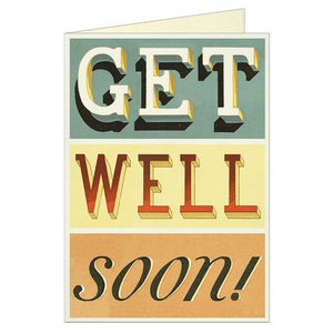 "Cavallini ""Get Well Soon"" Greeting Card"