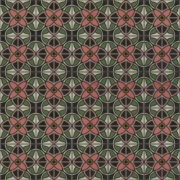 "Pattern 80 ""Shirley Temple"" Vinyl Floorcloth"