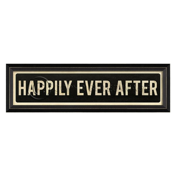 Happily Ever After Street Sign Wall Art (Floor Stock)