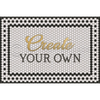 "Mosaic ""8th Avenue with Gold Script"" Customized Vinyl Mat"