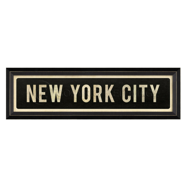 New York City Street Sign Wall Art