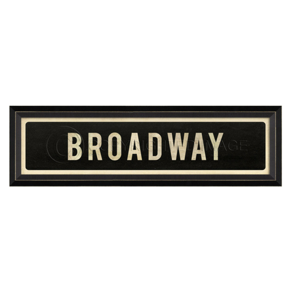 Broadway Street Sign Wall Art