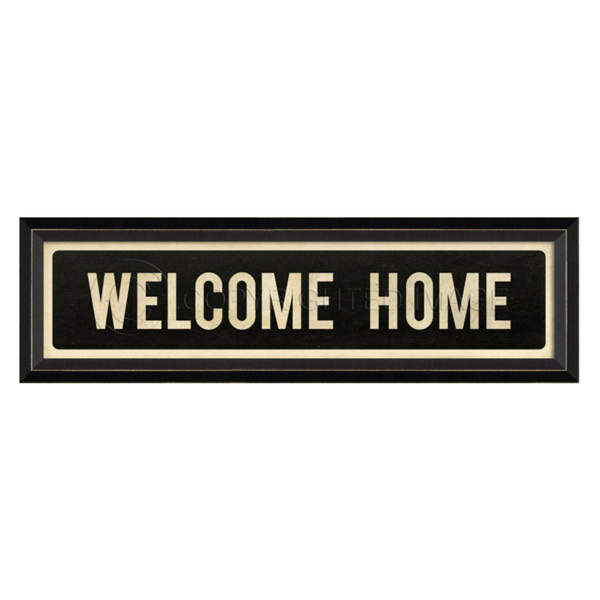 Welcome Home Street Sign Wall Art