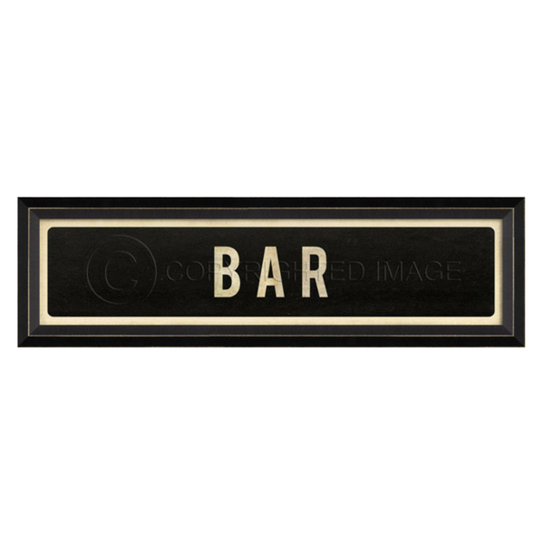 Bar Street Sign Wall Art